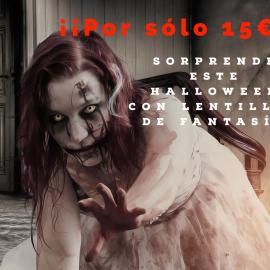 Destaca este Halloween con lentillas de fantasía ¡¡por sólo 15€!!