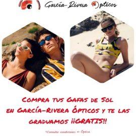 ¡¡Gradúa tus gafas de sol GRATIS en García-Rivera Ópticos!!